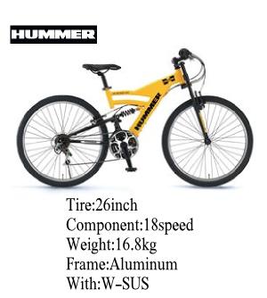 HUMMER(ハマー) 自転車 AL-ATB268 DH 26インチ イエロー 【マウンテンバイク】00