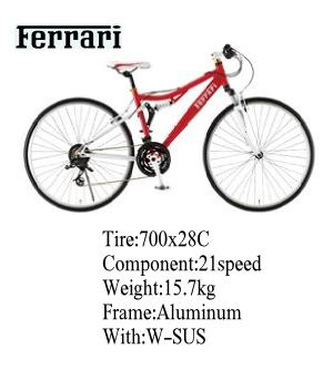 Ferrari(フェラーリ) 自転車 700C  CR-T 7021レッド